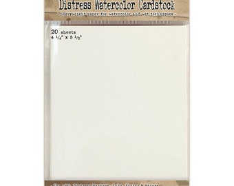 Ranger Ink - Tim Holtz - Distress Watercolor Cardstock - 4.25 x 5.5 - 20 Pack