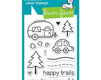 Lawn Fawn - Clear Photopolymer Stamps - Happy Trails