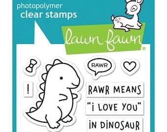 Lawn Fawn - Clear Acrylic Stamps - RAWR