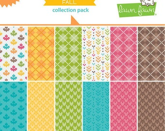 Lawn Fawn - Knit Picky - Fall - 12 x 12 Collection Pack