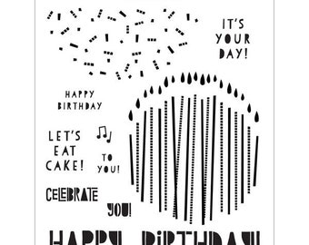Concord & 9th - endless birthday - clear stamp set