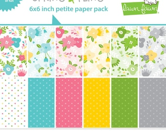 PREORDER-Lawn Fawn-Spring Fling Petite Paper Pack