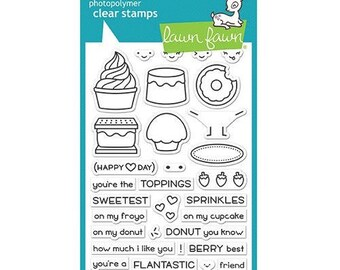Lawn Fawn - Clear Acrylic Stamps - Sweet Friends
