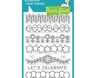 Lawn Fawn - Clear Acrylic Stamps - Simply Celebrate