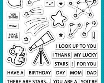Lawn Fawn - super star - clear stamp set - preorder