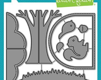 Lawn Fawn-Lawn Cuts-Shadow Box Card Park Add-on