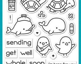 PREORDER-Lawn Fawn-Clear Acrylic Stamps-Get Well Before 'N Afters