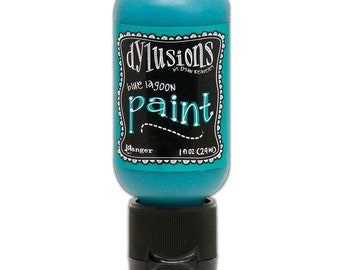 Ranger Ink - Dylusions Paints - Flip Cap Bottle -Blue Lagoon
