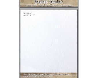 Tim Holtz 8.5 X 11 DISTRESS WOODGRAIN CARDSTOCK Ranger Ink