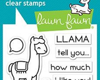 Lawn Fawn- Clear Acrylic Stamps-Llama Tell You