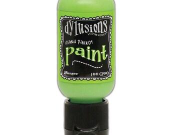 Ranger Ink - Dylusions Paints - Flip Cap Bottle -Island Parrot
