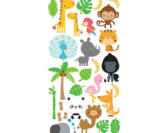 Doodlebug Design - At the Zoo Collection - Cardstock Stickers - Icons 1
