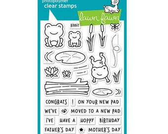 Lawn Fawn - Clear Acrylic Stamps - Toadally Awesome