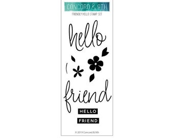 Concord & 9th - Clear stamp set - Friendly Hello