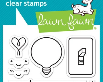 Lawn Fawn-Turn Me On-Clear Stamp Set