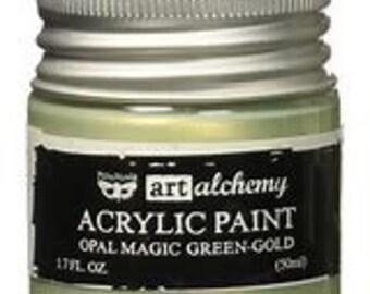 Prima - Finnabair - Art Alchemy - Opal Magic- Green / Gold