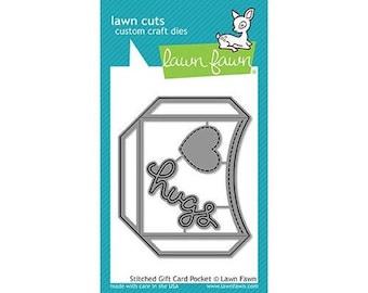 Lawn Fawn - Lawn Cuts - Dies - Stitched Gift Card Pocket