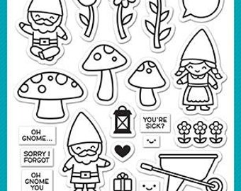 PREORDER-Lawn Fawn-Clear Acrylic Stamps-Oh Gnome