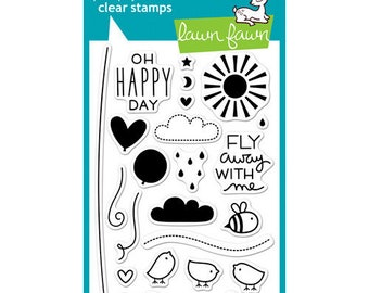 Lawn Fawn - Hello Sunshine Collection - Clear Photopolymer Stamps