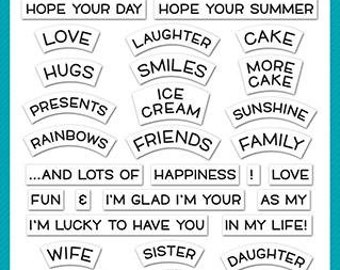 Lawn Fawn-Reveal Wheel Friends & Family Sentiments-Clear Stamp Sets