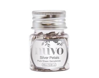 Nuvo - Pure Sheen Gemstones - Silver Petals