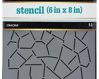 "iCraft-Thermoweb-Deco Foil Designer Stencil 6""X8""-Crackle"""