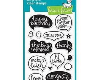 Lawn Fawn - chit chat - clear stamp set