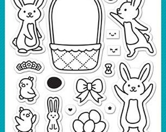 PREORDER-Lawn Fawn-Clear Acrylic Stamps-Eggstra Amazing Easter