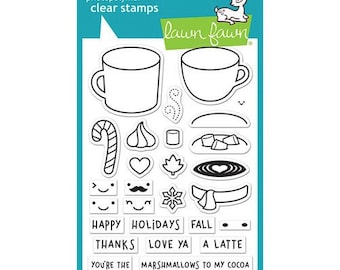 Lawn Fawn - Clear Photopolymer Stamps - Thanks A Latte