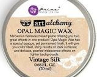 Prima - Finnabair - Art Alchemy - Opal Magic Wax - Vintage Silk
