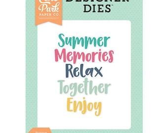 Echo Park - Summer Dreams Collection - Designer Dies - Summer Memories Word