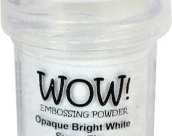 WOW -Embossing Powder- Opaque Bright White Super Fine