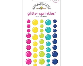 Doodlebug HELLO GLITTER Sprinkles Assortment Enamel Dots