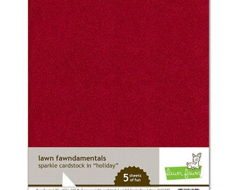 Lawn Fawn - Christmas - 8.5 x 11 Cardstock - Sparkle - Holiday - 5 Pack