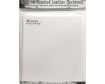 """Tim Holtz - Distress Cracked Leather Cardstock - 4.25"""" x 5.5"""" sheets"""