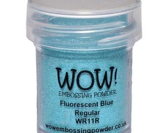 Wow-Embossing Powder- FLUORESCENT BLUE -Regular
