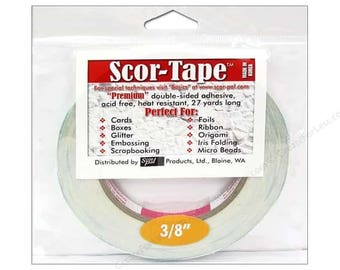 Scor-Pal Scor-Tape Double Sided Adhesive 3/8 in. x 27 yd.
