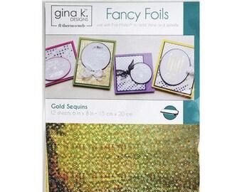 Therm O Web - Fancy Foils - 6 x 8 - Gold Sequins