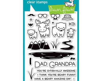 Lawn Fawn - Clear Photopolymer Stamps - Dad and Me