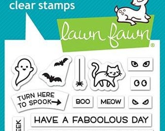 Lawn fawn-Tiny Halloween-Clear Stamp Set