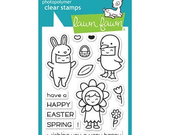 Lawn Fawn - Clear Acrylic Stamps - Easter Party