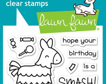 Lawn Fawn - Clear Acrylic Stamps - Year Seven
