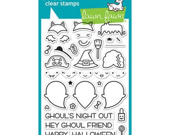 Lawn Fawn - Clear Photopolymer Stamps - Booyah