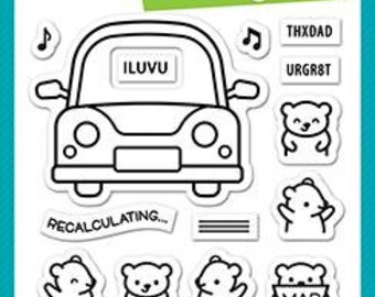 Lawn Fawn-Clear Stamp Set-car critters
