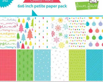 Lawn Fawn - Really Rainbow Collection - Christmas - 6 x 6 Petite Paper Pack