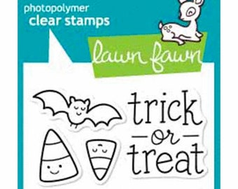 Lawn Fawn - Clear Photopolymer Stamps - Halloween - Trick or Treat