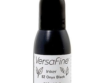 Tsukineko- VersaFine- ONYX BLACK REFILL- Reinker