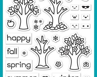 Lawn fawn-Tree Before 'n Afters-ClearStamp Set