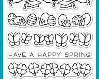 PREORDER-Lawn Fawn-Clear Acrylic Stamp-Simply Celebrate Spring