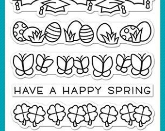 Lawn Fawn-Clear Acrylic Stamp-Simply Celebrate Spring